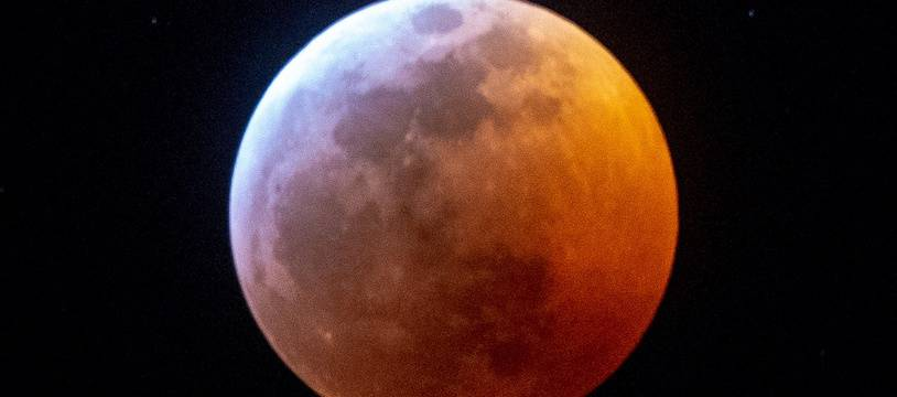 La Lune rouge prise depuis Miami, aux Etats-Unis en janvier 2019.
