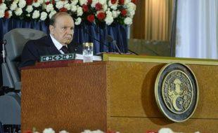 Le président algérien Abdelaziz Bouteflika, le 28 avril 2014 à Alger