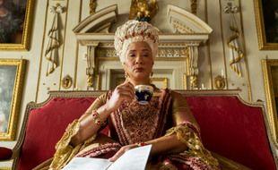 La reine Charlotte (Golda Rosheuvel) dans la saison 1 de « La Chronique des Bridgerton »