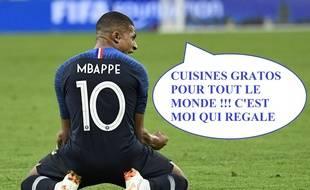 La cuisine c'est moi, et Mbappé (vous l'avez ?).
