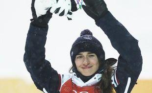 Perrine Laffont a remporté la médaille d'or en ski de bosses, lors des JO de Pyeongchang, le 11 février 2018.