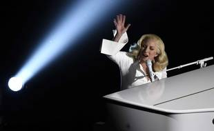 """Lady Gaga performs """"Til It Happens To You"""" that is nominated for best original song from """"The Hunting Ground"""" at the Oscars on Sunday, Feb. 28, 2016, at the Dolby Theatre in Los Angeles. (Photo by Chris Pizzello/Invision/AP)/CACJ534/515291292723/022816113758/1602290526"""