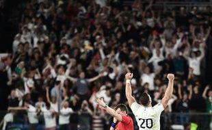 Nigels Owens siffle la fin du match, l'Angleterre est en finale de la Coupe du monde de rugby.