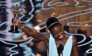 Lupita Nyong'o, meilleur second rôle féminin aux Oscars 2014.