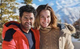 Jamel Debbouze et Mélissa Theuriau au international du film de comédie de l'Alpe d'Huez, en janvier 2017.