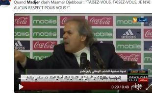 Il n'a pas l'air du tout tendu, le Rabah Madjer.