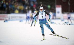 Justine Braisaz lors de la Coupe du monde de biathlon à Ostersund, le 3 décembre 2017.