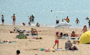 Les plages n'ont pas fait le plein.