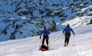 Photo d'illustration d'un exercice de sauvetage en montagne aux Deux-Alpes (Isère).