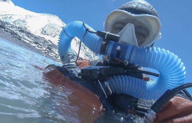 Frédéric Swierczynski s'est immergé dans une eau glaciale.