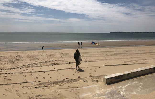 La plage de la Baule, mercredi 13 mai 2020