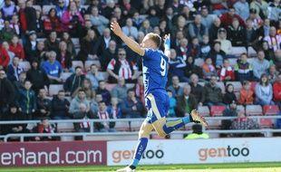 Vardy a inscrit un doublé pour Leicester sur la pelouse de Sunderland (0-2), le 10 avril 2016.