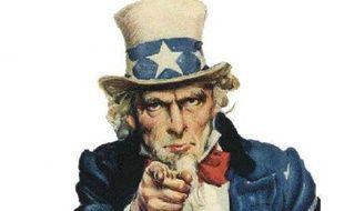 Une affiche américaine avec «l'oncle Sam»