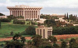 Le palais présidentiel à Yaoundé, le 13 octobre 1997