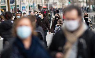 Dans la rue à Nantes, le 20 février 2021