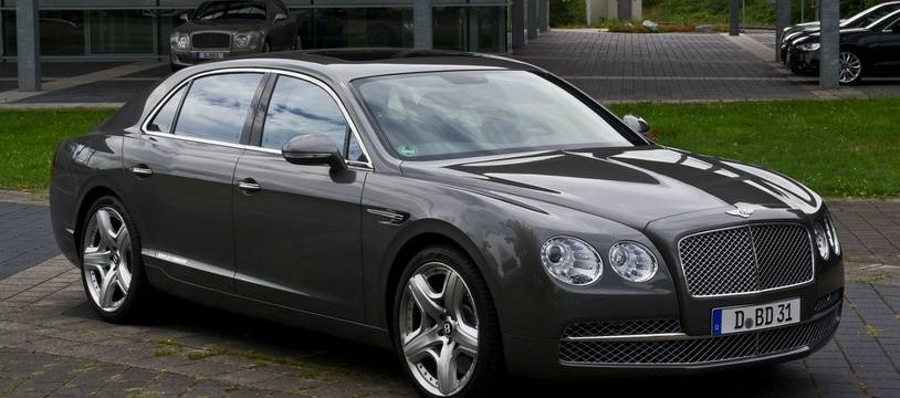 Une Bentley Flying Spur (illustration)
