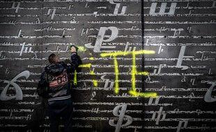 Tag à la gloire d'Erdogan retrouvé sur le mémorial du génocide arménien de Décines (Rhône).
