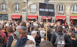 Rassemblement samedi 14 novembre place du Bouffay à Nantes.