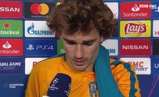 Antoine Griezmann déçu.