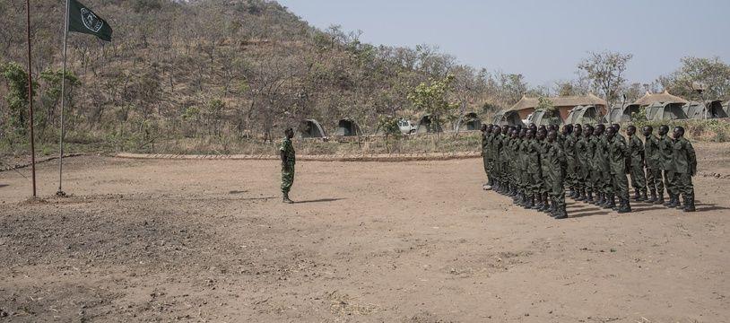 Des soldats de l'armée spécialement déployés pour la surveillance du parc animalier Pendjari et la protection des animaux au Bénin.