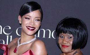 La chanteuse Rihanna et sa mère, Monica Braithwaite