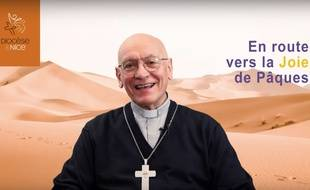 Monseigneur André Marceau, évêque de Nice, communique également via la chaîne YouTube du diocèse