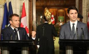 A la veille du sommet du G7 au Canada, Emmanuel Macron a donné un conférence de presse commune avec le Premier ministre canadien Justin Trudeau
