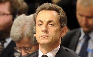 Le président Nicolas Sarkozy assiste au sommet de l'Otan le 19 novembre 2010, à Lisbonne.