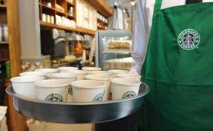 Dans un Starbucks Coffee de Marseille le 7 mai 2010.