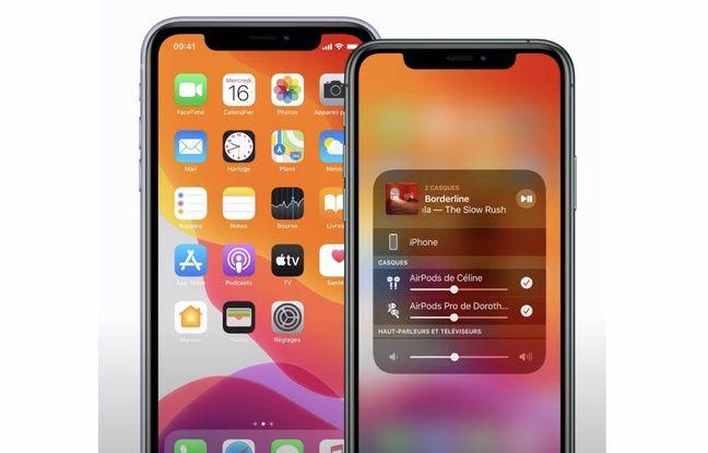 Deux iPhone sinon rien pour écouter la même musique à deux sur un casque ou avec des écouteurs.