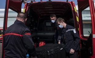 Des pompiers à Chessy, en Seine-et-Marne