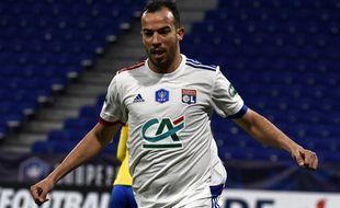 Djamel Benlamri a inscrit son unique but sous le maillot lyonnais lors du 16e de finale de Coupe de France contre Sochaux (5-2).