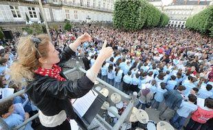 La grande chorale de Nantes, en juin 2012