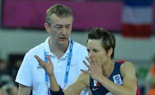 Pierre Vincent et Céline Dumerc à L'eurobasket, en juin 2013