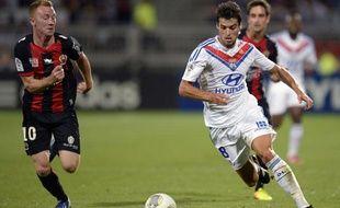 Le Lyonnais Yoann Gourcuff, le 10 août 2013, contre Nice, à Gerland.