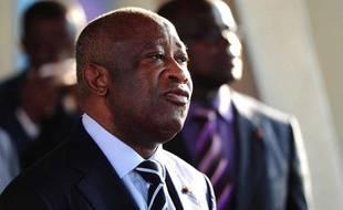 Laurent Gbagbo à Abidjan, en Côte d'Ivoire, le 21 février 2011.