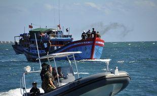 Un bateau de la Marine nationale en Nouvelle-Calédonie, le 8 mars 2017.