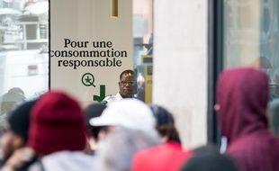 Dans une boutique d'Etat au Québec où on peut, depuis un an, acheter librement du cannabis.