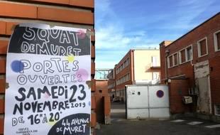 Le squat de l'avenue de Muret, à Toulouse, accueille plus de 500 personnes.