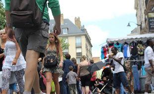 Illustration de foule. Ici à la braderie de Rennes.