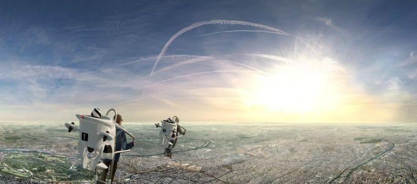 Avec FlyView, il est possible de survoler Paris à bord de jetpacks... en réalité virtuelle.