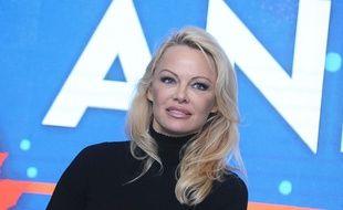 Pamela Anderson au Comic Con de Varsovie, le 26 novembre 2017.