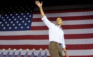 Barack Obama lors d'un discours à Cincinnati (Ohio, nord) le 7 septembre 2009, à l'occasion de la fête du Travail («Labor day»), un jour férié aux Etats-Unis.