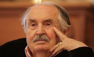 Tonino Guerra, lors d'une conférence de presse à Saint-Pétersbourg le 21 mai 2010.
