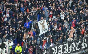 """La banderole avec un âne dessiné et le texte """"Marcelo dégage"""" avait déjà été sortie dans le virage nord lors du match retour contre Benfica, le 5 novembre dernier."""