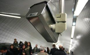 Une caméra de vidéosurveillance dans le métro toulousain. Archives.