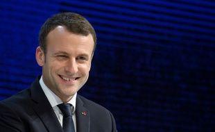 Emmanuel Macron à Davos le 24 janvier 2018.