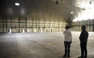 Le 17 octobre 2014 à Augny, dans l'est de la France, le hangar de la base 128 de Metz-Frescaty fermée en 2011