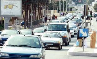 A Nice, le tunnel partira de Pont Michel, un quartier engorgé par une forte circulation.