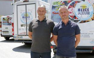 Stéphane et Laurent (à droite) Bernardoni ont repris l'entreprise familiale de fabrication de glaces artisanales en 2010